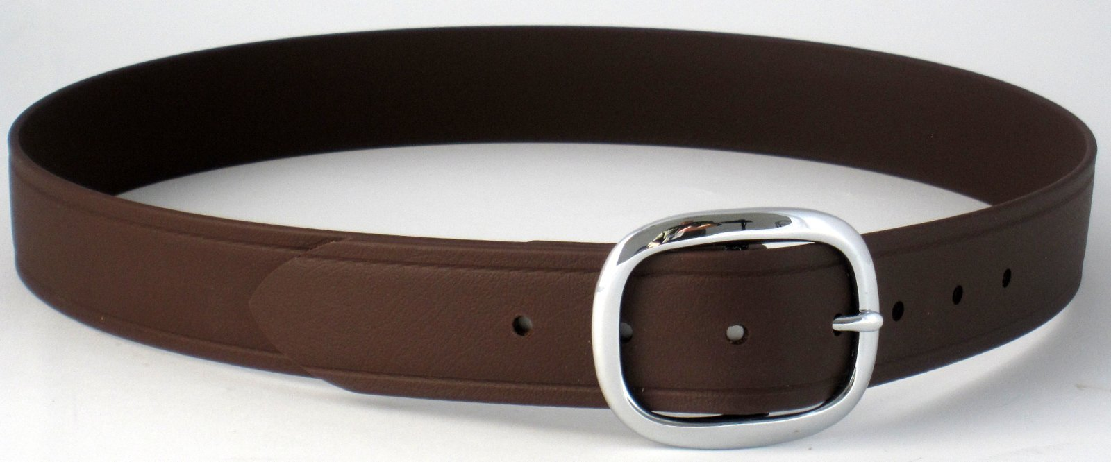 The BioThane Super Belt Brown with Silver Brass Buckle
