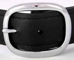 The Super Belt in Black with Silver Chrome Buckle