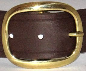 The Super Belt in Brown with Gold Brass Buckle