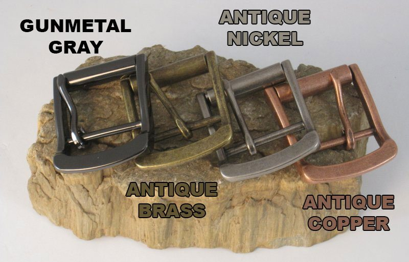 The Super Belt Buckles Gunmetal Gray Antique Nickel Antique Copper and Antique Brass Strongest Belt that Won't Break