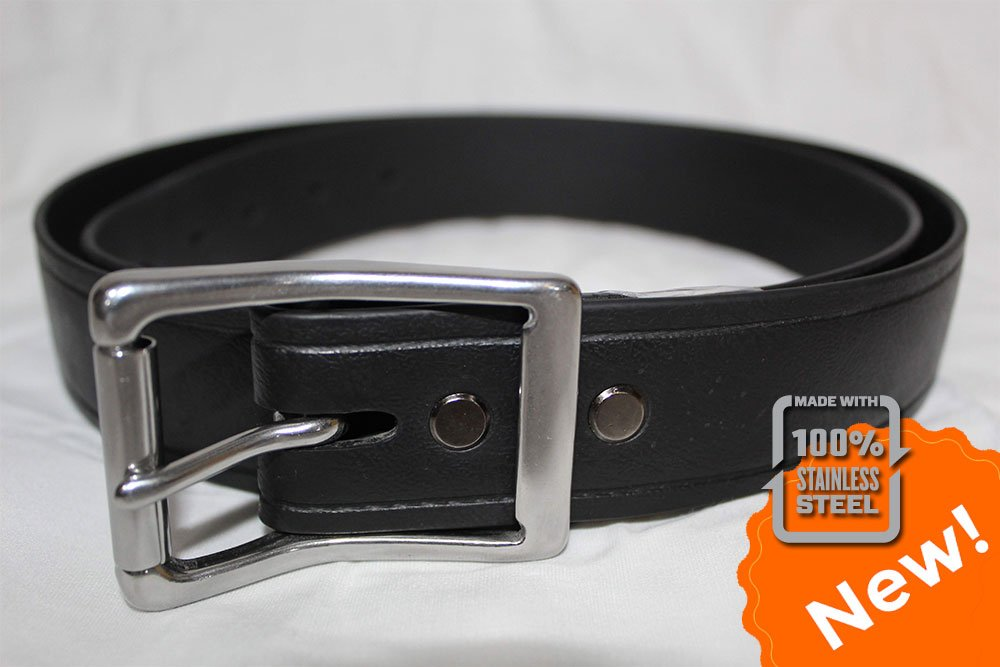 Non-Branded Mens Black Leather Dress Belt Size 36